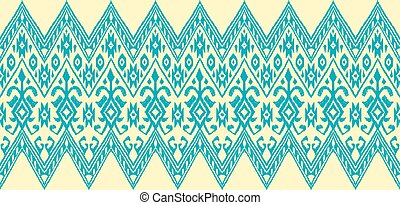 Ikat geometric folklore pattern. Ethnic folk ornament...