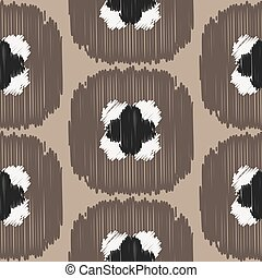 Ikat ogee vector seamless pattern.