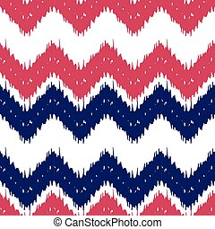 Ikat seamless pattern as cloth, curtain, textile design,...