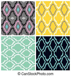 Ikat Seamless Pattern Collection