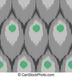Ikat seamless pattern