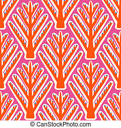 Ikat, vector seamless ethnic pattern with Uzbek Turkish and Kazakh motifs in bright vibrant colors. Texture for web, print, wallpaper, home decor, winter spring fashion textile, fabric, ceramic tile