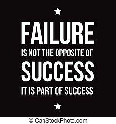 ikke, fiasko, held, modsatte