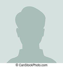 ikon, arcél, default, placeholder
