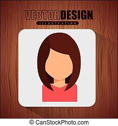 ikon, avatar, tervezés