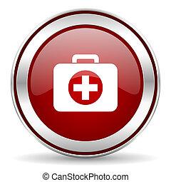 ikon, bistånd, första