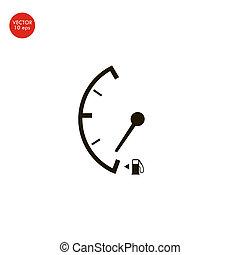 ikon, drivmedel, isolerat, låg, underteckna