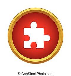 ikon, egyszerű, rejtvény, mód, egy