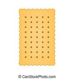 ikon, elszigetelt, fehér, keksz, vektor
