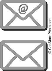 ikon, email, kuvert