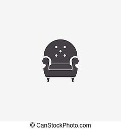 ikon, fåtölj