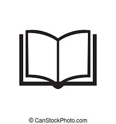 ikon, fehér, elszigetelt, könyv, háttér