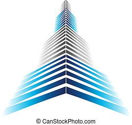 ikon, felhőkarcoló