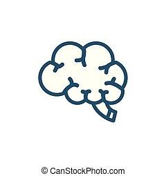 ikon, fodra, stil, hjärna, forska, mänsklig