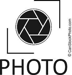 ikon, fotografi, vektor, logo, design, illustration