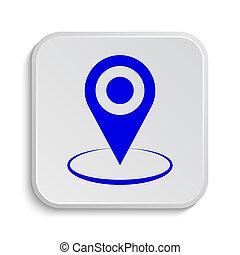 ikon, gombostű, elhelyezés