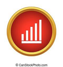 ikon, graph, firmanavnet, enkel