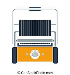 ikon, grill, elektromos, konyha
