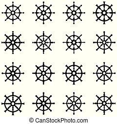 ikon, hajó, gördít, állhatatos