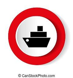 ikon, hajó, vektor, illustration.