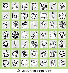 ikon, hand, gratis