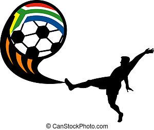 ikon, helyett, 2010, futball, világbajnokság, noha, játékos,...
