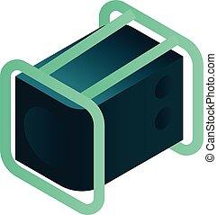 ikon, isometric, magt, firmanavnet, generator