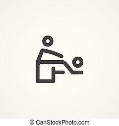 ikon, jelkép, vektor, masszázs, aláír