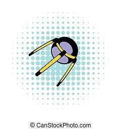 ikon, képregény, űrhajó, mód