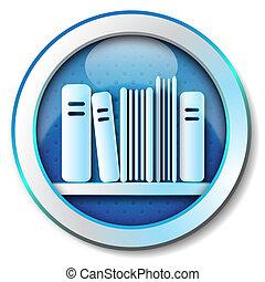 ikon, könyvtár, e-book