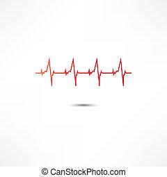 ikon, kardiogram