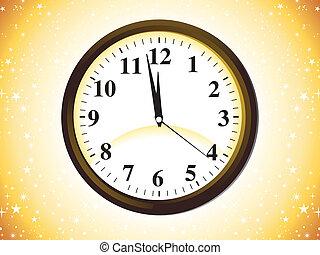 ikon, klocka, abstrakt