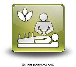 ikon, knapp, pictogram, alternativ medicin