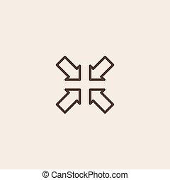 ikon, krympa, underteckna