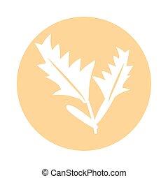 ikon, kvarter, stil, lavander, växt