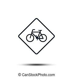 ikon, lakás, bicikli, vektor, template., ábra, tervezés, bicikli