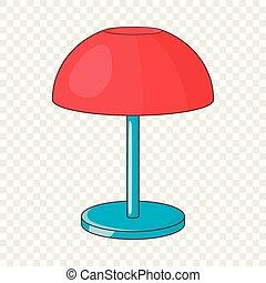 Splitter nya Lampa, tecknad film, skrivbord. Freehand, lampa, oavgjord, tecknad MV-82