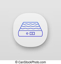 ikon, madrass, luft, app