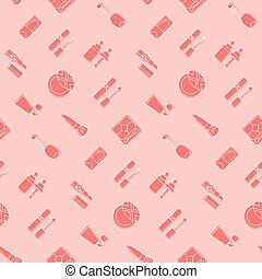 ikon, pattern., seamless, kosmetisk
