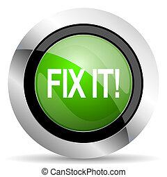 ikon, rögzít, zöld, azt, gombol