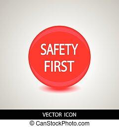 ikon, säkerhet, första
