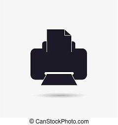 ikon, skrivare
