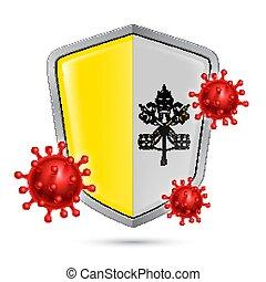 ikon, skydda, vaticanen stad