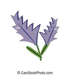 ikon, specificera, lägenhet, stil, lavander, växt