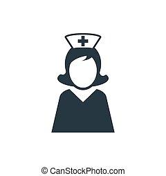 ikon, sygeplejerske, 1