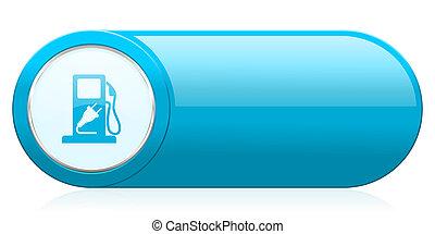 ikon, underteckna, drivmedel, hybrid