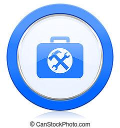 ikon, underteckna, toolkit, service
