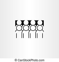 ikon, vektor, grupp, clipart, folk