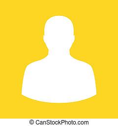 ikon, vektor, profil