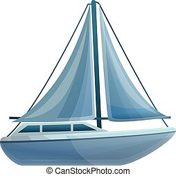 ikon, vitorlás hajó, mód, karikatúra, tenger
